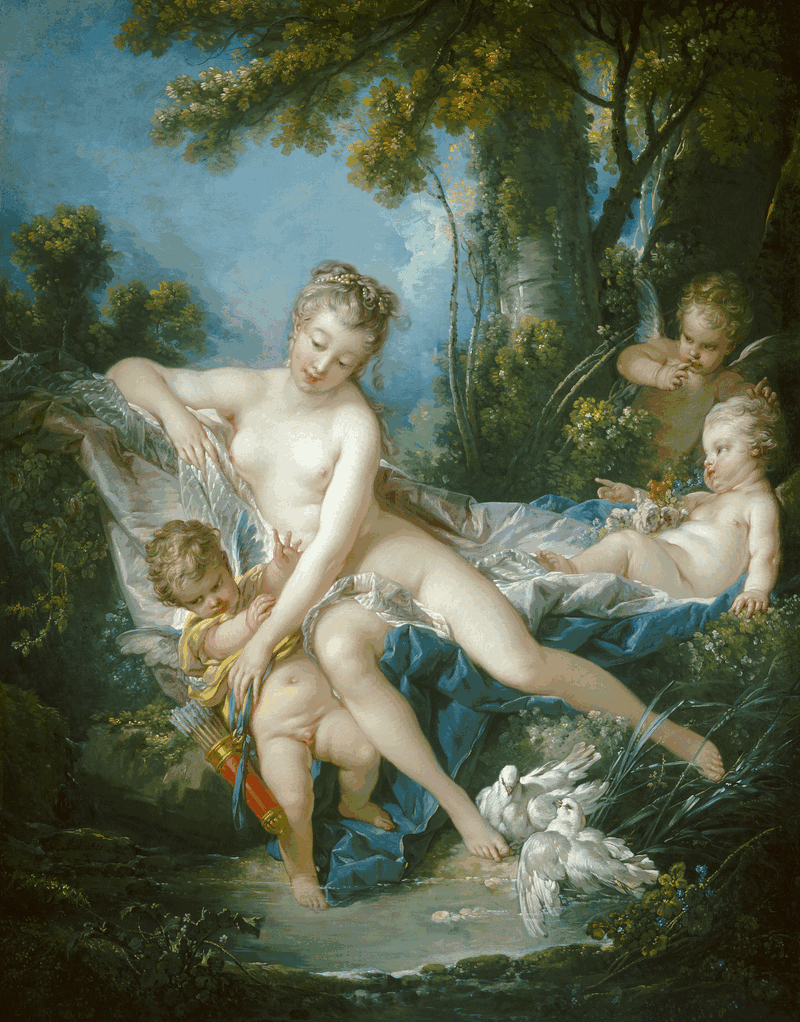 François Boucher. The Bath of Venus, 1751