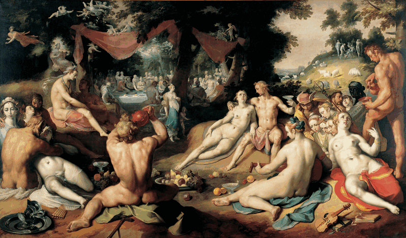 Cornelis Cornelisz van Haarlem. The Wedding of Peleus and Thetis